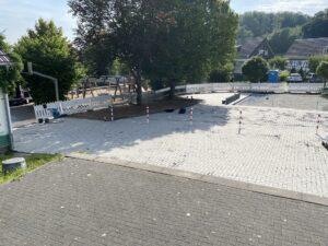 Dorfplatz August 2021
